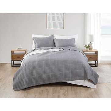 VCNY Jade and Oake Grid 3-Piece Quilt Set