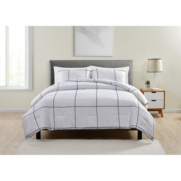 VCNY Jade and Oake Grid 3-Piece Comforter Set