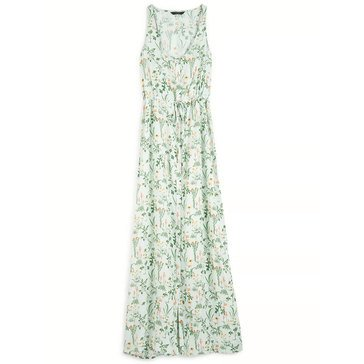 Lucky Brand Women's Tie Waist Maxi Dress