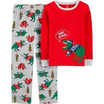 Carter's Little Boys' Dino 2-Piece Holiday Pajama Set