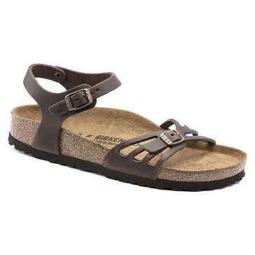 Birkenstock Women's Bali Oiled Leather Strappy Sandal With Quarter Strap