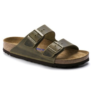 Birkenstock Women's Arizona Softbed Double Strap Sandal Oiled Leather