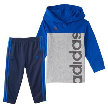 adidas Little Boys' Colorblock Hooded Tee Set