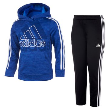 adidas Little Boys' Statement Hooded Pullover Set
