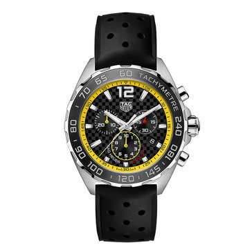 Tag Heuer Men's Formula 1 Yellow Flange Strap Watch