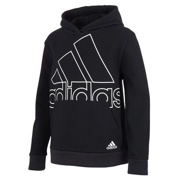 adidas Big Boys' Badge of Sport Fleece Hooded Pullover