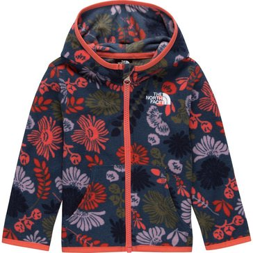 The North Face Baby Girl Wall Flower Print Glacier Full Zip Hoodie