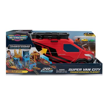 Micromachines Large Super Van City Playset