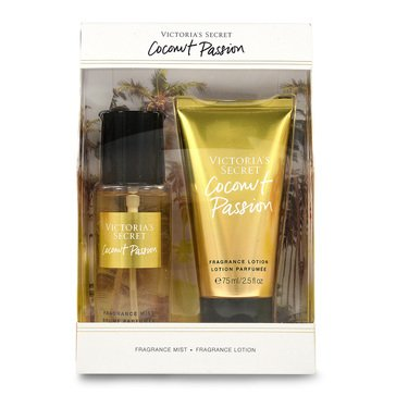 Victoria Secret Bath Coconut Passion Mist 2pc Gift Set