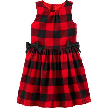 Carters Little Girls' Sleeveless Buffalo Plaid Holiday Dress