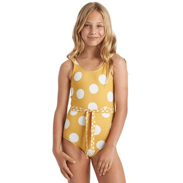 Billabong Little Girls' 4Ever Sun Contrast Belt One Piece Swim