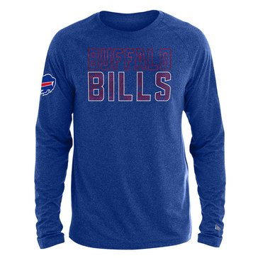 New Era Men's NFL Bills Brushed Jersey Long Sleeve Tee