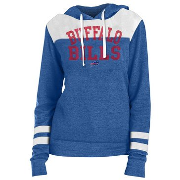 New Era Women's NFL Bills Tri-Blend Fleece Tri-Blend Hoodie With Contrast Yokes