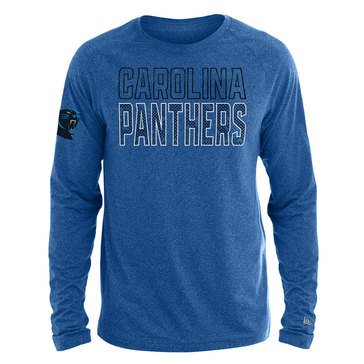 New Era Men's NFL Panthers Brushed Jersey Long Sleeve Tee