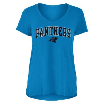 New Era Women's NFL Panthers Rayon Spandex V-Neck Tee
