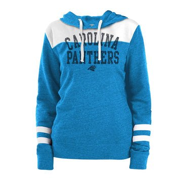 New Era Women's NFL Panthers Tri-Blend Fleece Tri-Blend Hoodie With Contrast Yokes