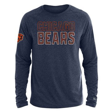 New Era Men's NFL Bears Brushed Jersey Long Sleeve Tee