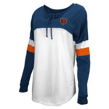 New Era Women's NFL Bears Brushed Long Sleeve Tee With Lacing