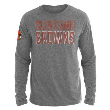 New Era Men's NFL Browns Brushed Jersey Long Sleeve Tee
