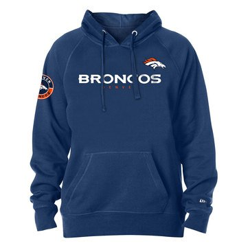New Era Men's NFL Broncos Brushed Fleece Tri-Blend Hoodie