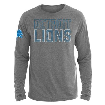 New Era Men's NFL Lions Brushed Jersey Long Sleeve Tee