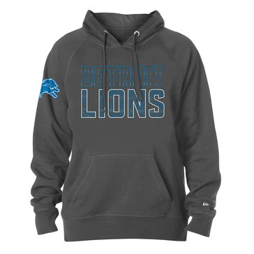 New Era Men's NFL Lions Brushed Fleece Tri-Blend Hoodie