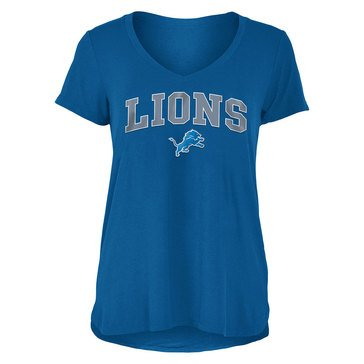 New Era Women's NFL Lions Rayon Spandex V-Neck Tee