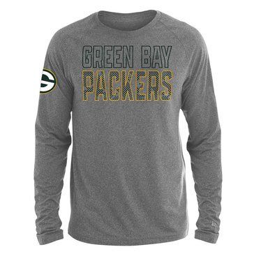 New Era Men's NFL Packers Brushed Jersey Long Sleeve Tee