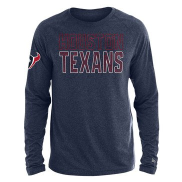 New Era Men's NFL Texans Brushed Jersey Long Sleeve Tee