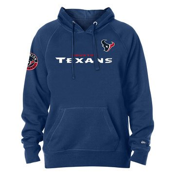 New Era Men's NFL Texans Brushed Fleece Pullover Hoodie