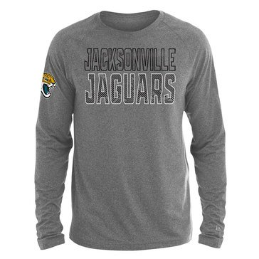 New Era Men's NFL Jaguars Brushed Jersey Long Sleeve Tee