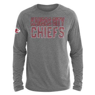 New Era Men's NFL Chiefs Brushed Jersey Long Sleeve Tee