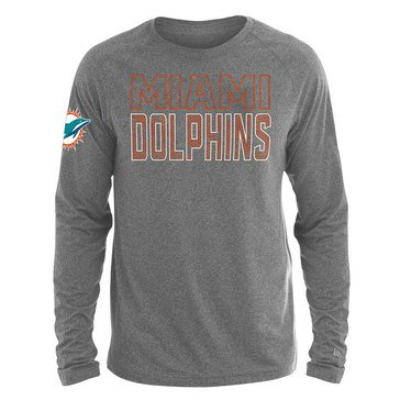 New Era Men's NFL Dolphins Brushed Jersey Long Sleeve Tee