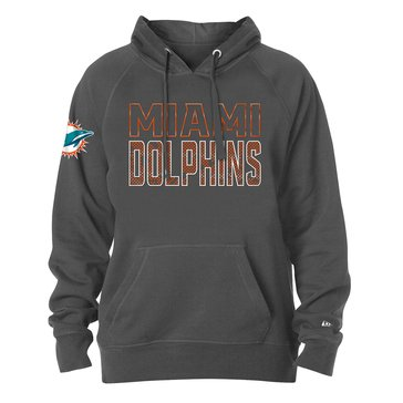 New Era Men's NFL Dolphins Brushed Fleece Pullover Hoodie