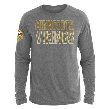 New Era Men's NFL Vikings Brushed Jersey Long Sleeve Tee