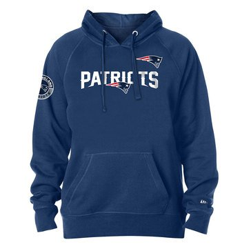 New Era Men's NFL Patriots Brushed Fleece Pullover Hoodie