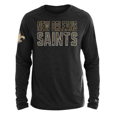 New Era Men's NFL Saints Brushed Jersey Long Sleeve Tee