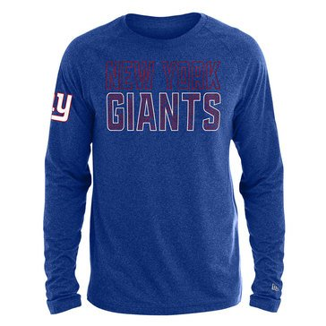 New Era Men's NFL Giants Brushed Jersey Long Sleeve Tee