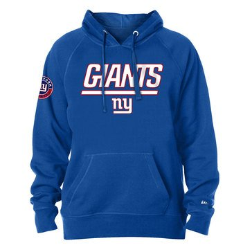 New Era Men's NFL Giants Brushed Fleece Pullover Hoodie