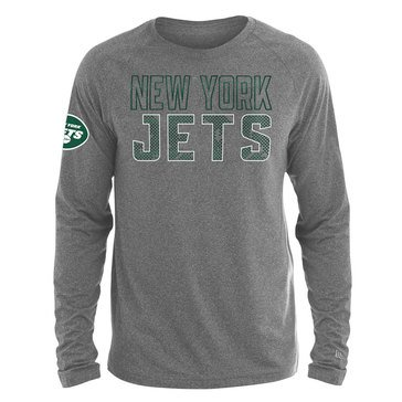 New Era Men's NFL Jets Brushed Jersey Long Sleeve Tee