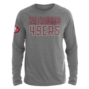 New Era Men's NFL 49ers Brushed Jersey Long Sleeve Tee