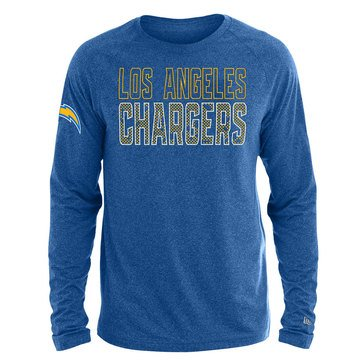 New Era Men's NFL Chargers Brushed Jersey Long Sleeve Tee