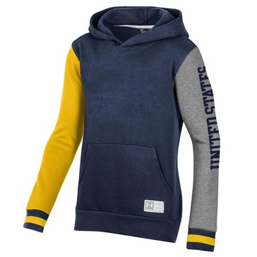 UA Navy 1775 Youth Ultimate Gameday Fleece Hoodie
