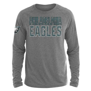 New Era Men's NFL Eagles Brushed Jersey Long Sleeve Tee