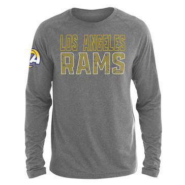New Era Men's NFL Rams Brushed Jersey Long Sleeve Tee
