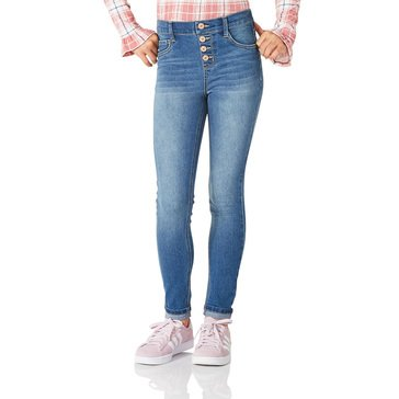 Liberty & Valor Girls' Four Button Cuff Jeggings