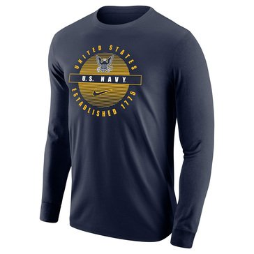 Nike Men's USN Eagle Circle Core Cotton Long Sleeve Tee