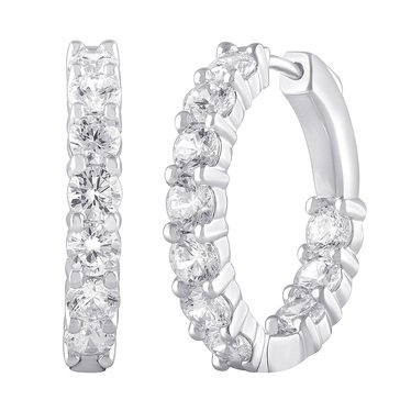 14K White Gold Diamond Earrings 4.00 cttw