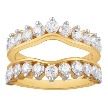 14K Yellow Gold Ladies Guard Ring 2 cttw