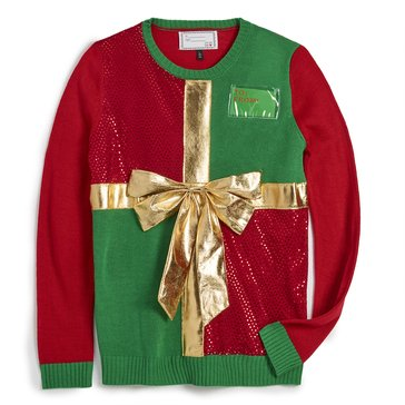 Derek Heart Juniors' Christmas Gift Holiday Sweater
